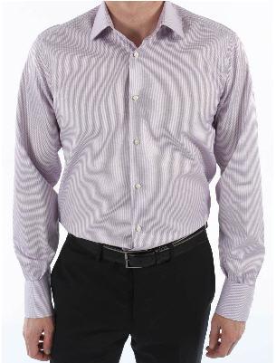 Chemise homme Boston droite carreaux Etna parme