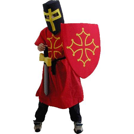 Acheter Déguisement de chevalier cathare avec armes en mousse