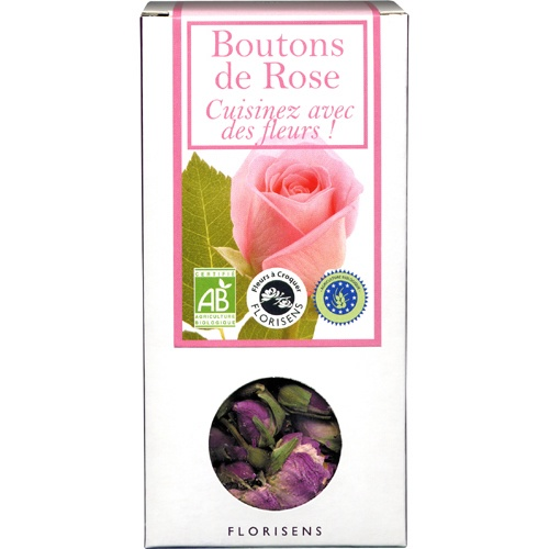 Boutons de rose bio