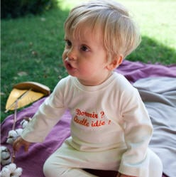 Pyjama bebe personnalisé prenom blanc