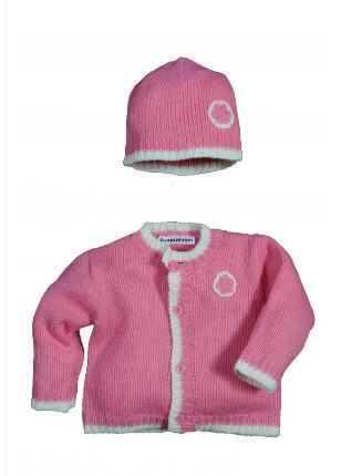 Gilet + bonnet en tricot, bébé douceur