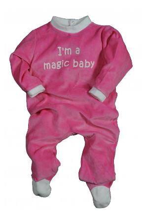 "Pyjama bebe velours, 3-24m, ""Magic baby"""