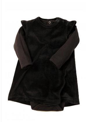 Robe bébé fille velours, body jersey, 3-24m
