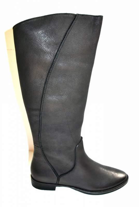 Botte Cavalière Bottes cuir noir chaussure femme