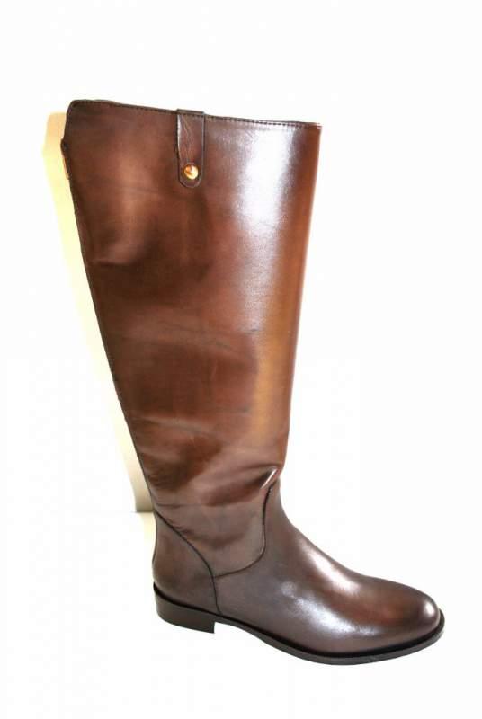 Botte Cavalière talon Bottes cuir marron chaussure femme