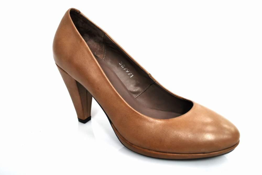 Escarpin cuir taupe chaussure femme