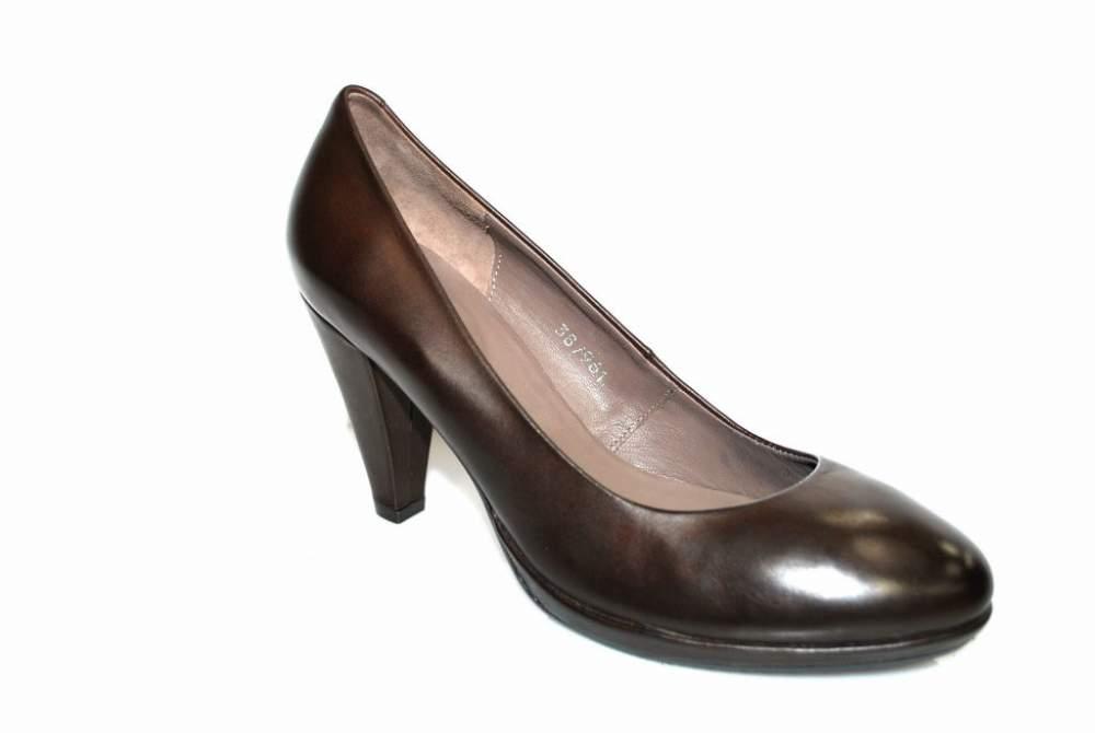 Escarpin cuir marron chaussure femme