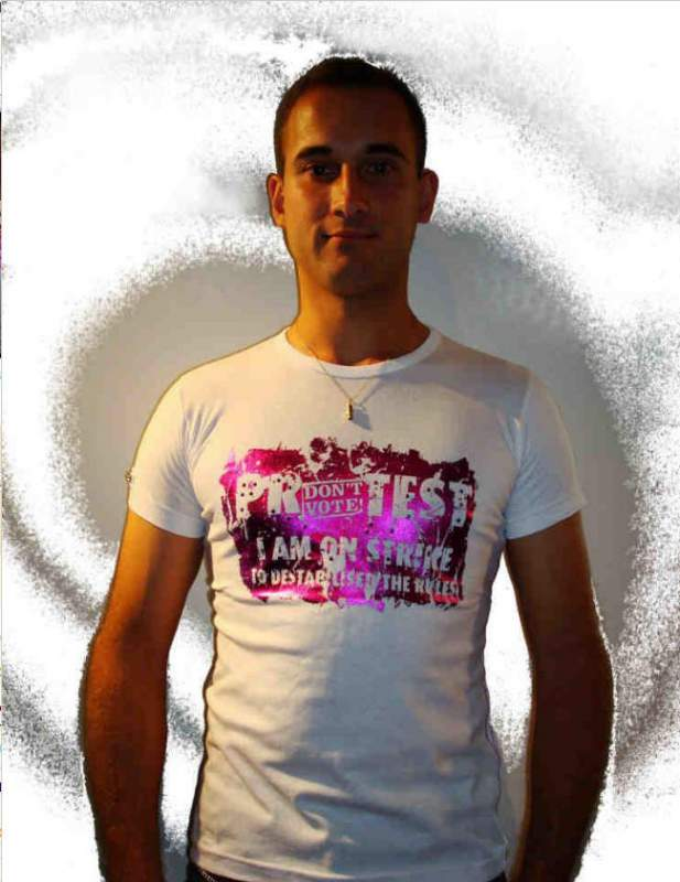 T-shirt Hope n life Fonzie blanc