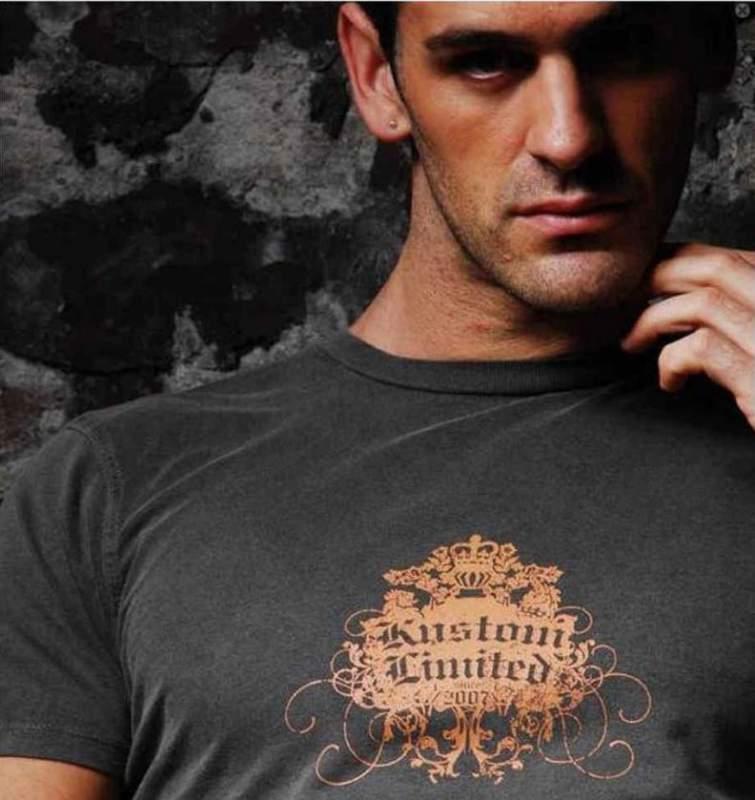 T-shirt Kustom Limited blason vintage