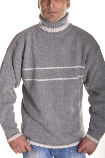 Pull homme col roulé en laine mélangé (2424 - A12/2)
