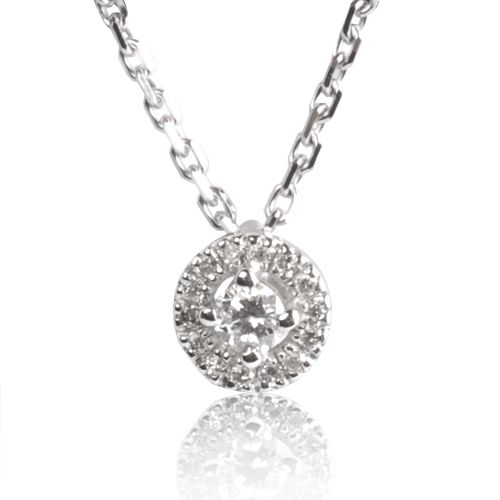 Collier diamant 0.22 ct Réf : CL4131
