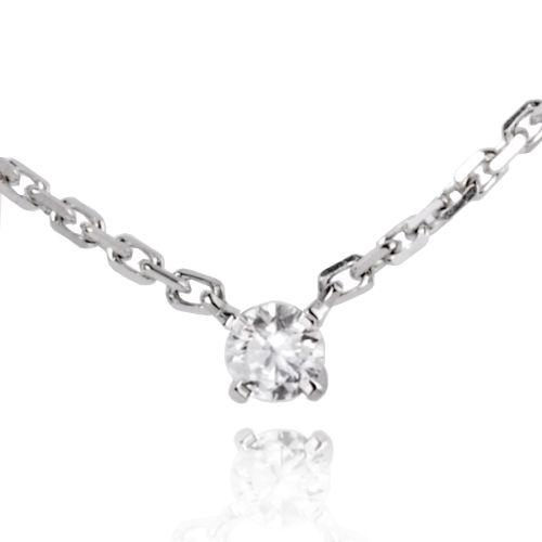 Collier diamant 0.10 ct Réf : 7PC0210WD