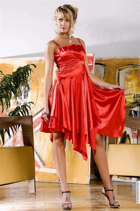 Robes (42)XL - Robes amelia taille:42 couleur:rouge - ref: V5402-42