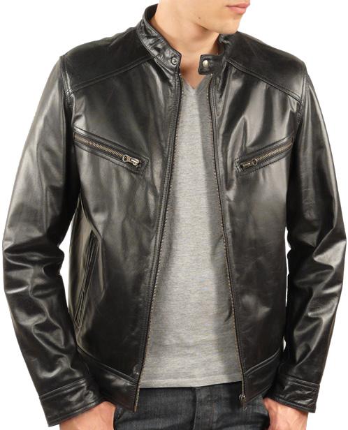 11867d904eb9 Blouson cuir homme noir