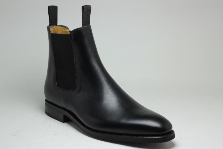 Boots Basile : Semelle Gomme Forme 174 en Box Noir