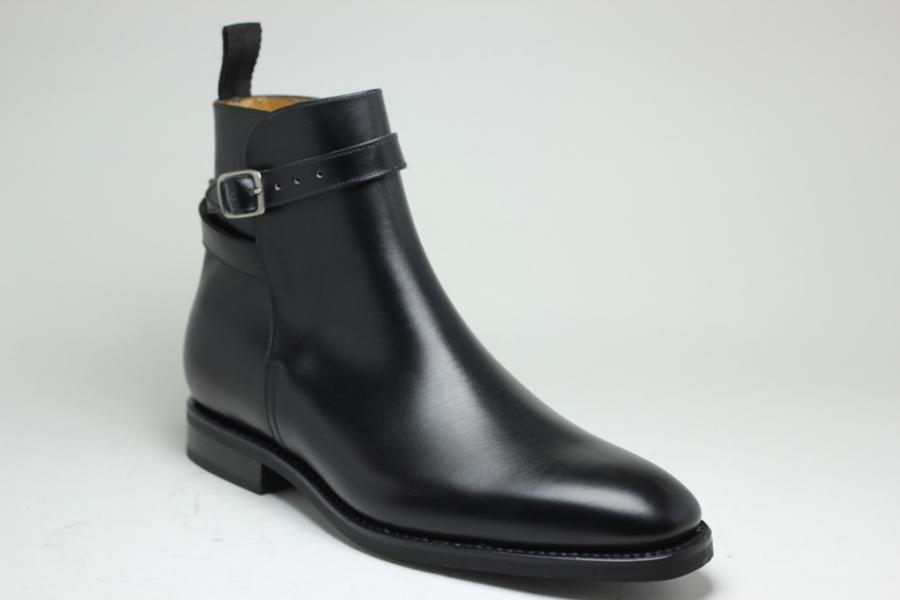 Boots Jodhpur : Semelle Gomme Forme 174 en Box Noir