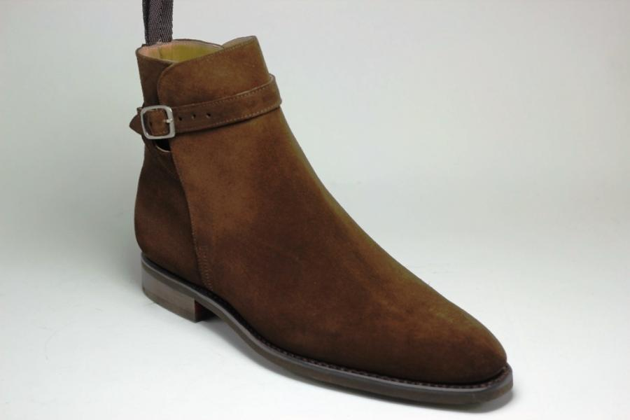 Bottines Ernest Gomme : Forme 174 en Veau Velour Marron