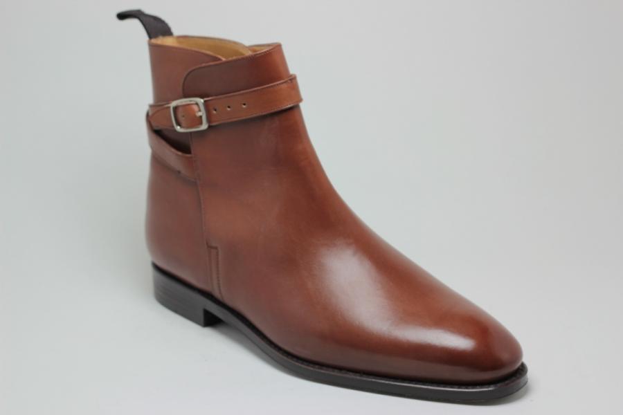 Boots Ernest : Forme 198 en Box Cognac