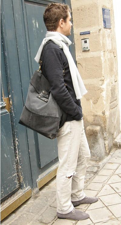 Acheter Besace Postier Jeans