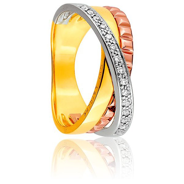 Bague Trinity 3 Ors et Diamants
