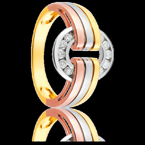 Acheter Bague Stridon 3 Ors et Diamants