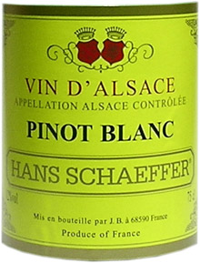 Vin Alsace Pinot blanc Hans Schaeffer