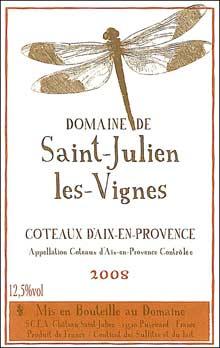 Vin Coteaux d'Aix-en-Provence domaine Saint-Julien les Vignes