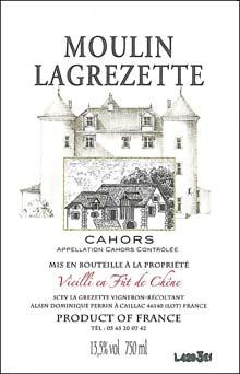 Vin Cahors Moulin Lagrezette