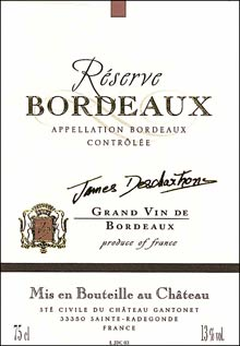 Vin Bordeaux James Deschartrons