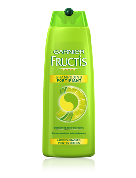 Shampooing fortifiant Garnier Fructis Racines grasses Pointes sèches
