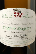 Le vin blanc cru Chignin-Bergeron сuvée Saint Anthelme
