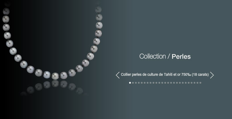 Collier perles de culture de Tahiti et or 750 (18 carats)