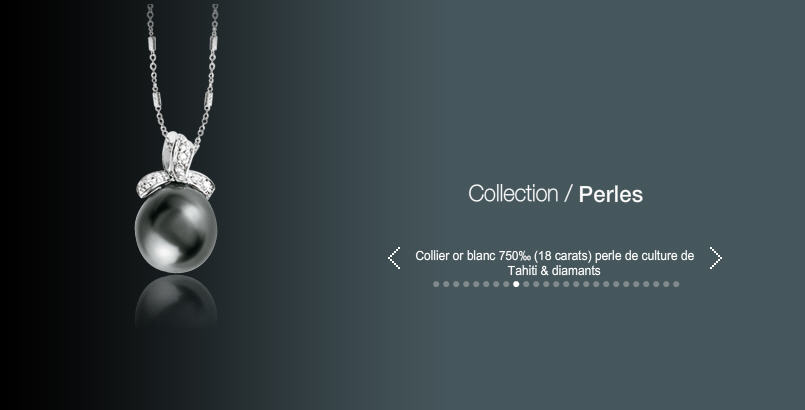 Acheter Collier or blanc 750 (18 carats) perle de culture de Tahiti et diamants