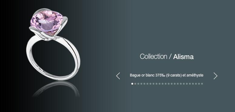 Acheter Bague or blanc 375 (9 carats) et amethyste