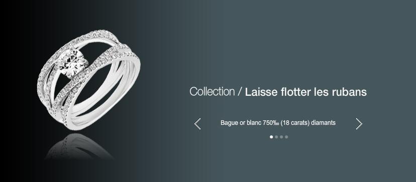 Acheter Bague or blanc 750 (18 carats) diamants