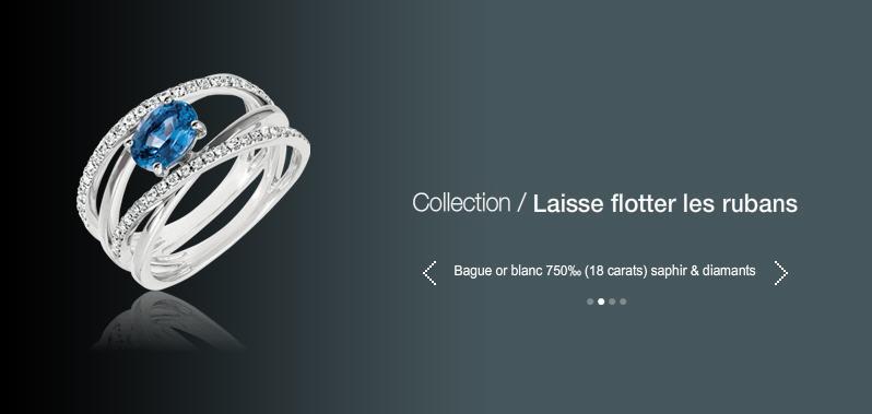 Acheter Bague or blanc 750 (18 carats) saphir & diamants