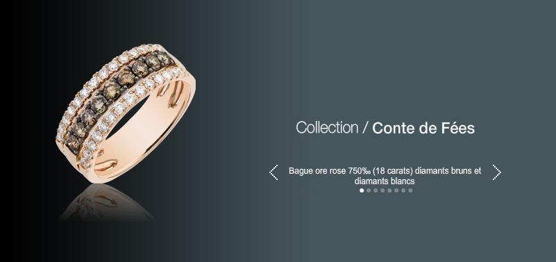 Acheter Bague ore rose 750 (18 carats) diamants bruns et diamants blancs
