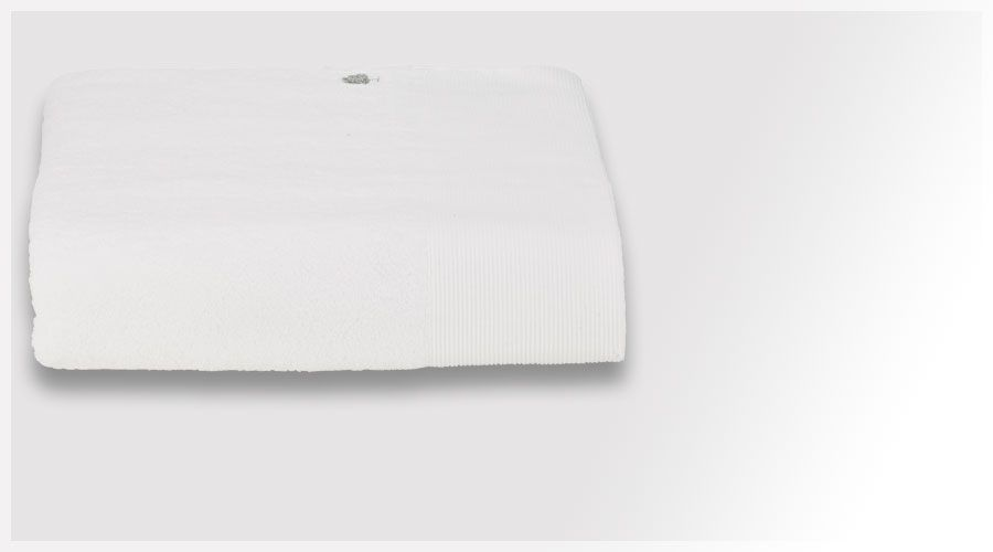 Acheter Drap de bain Ribboy Blanc 100x150 cm