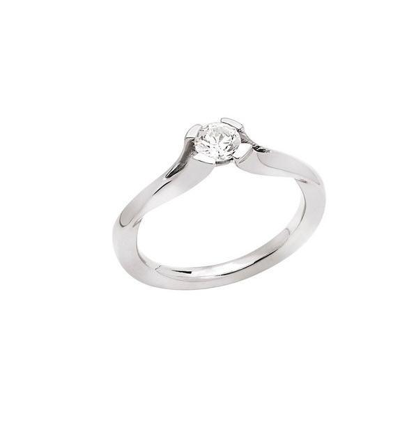 Acheter Bague Utopia Solitaire moderne or gris palladié 750 millièmes diamant G-H/SI 0.30ct