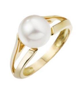 Acheter Bague perle blanche Eau Douce 8/8.5mm