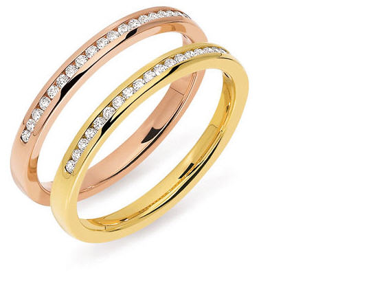 Acheter Demi alliance diamants