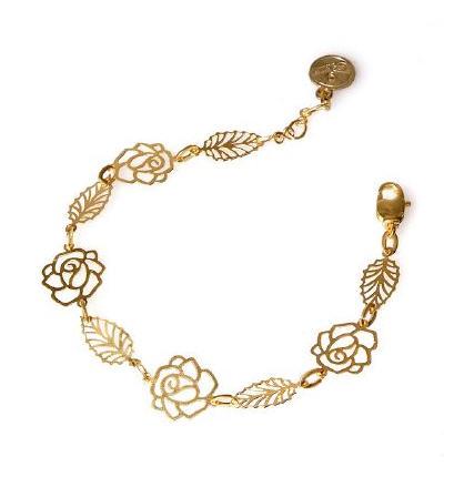 Acheter Bracelet Fleur doré
