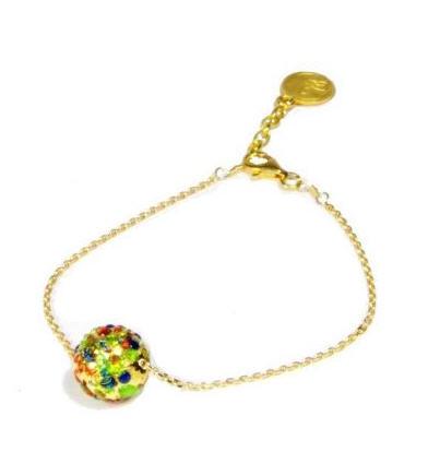 "Bracelet ""Gemmes"" 1 perle Murano or/vermeil"