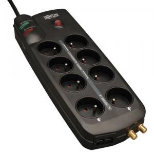 Acheter Bloc de 8 prises+1 Tel/DSL+1 Coaxiale protégées contre les surtensions