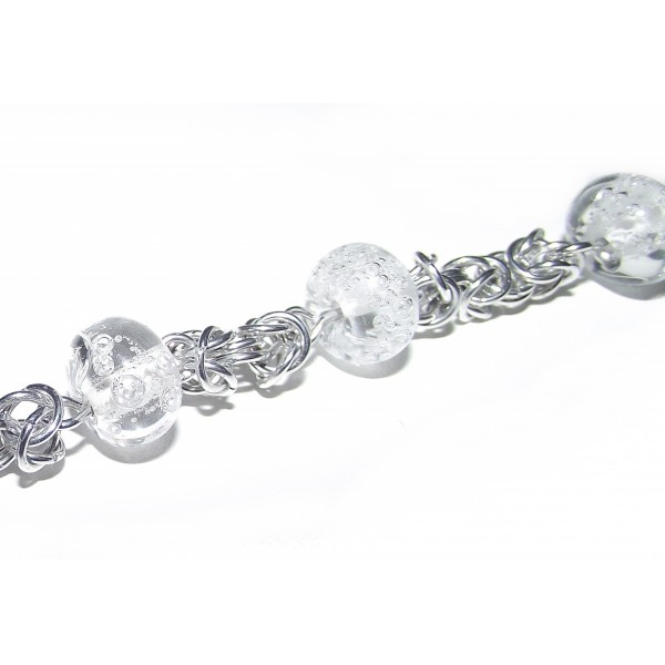 Bracelet - Perles transparentes - Création artisanal