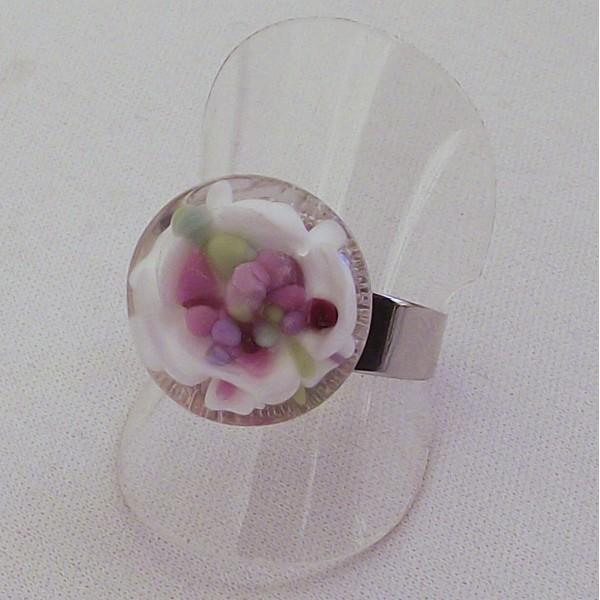 Acheter Bague implosion fleur multi couleurs