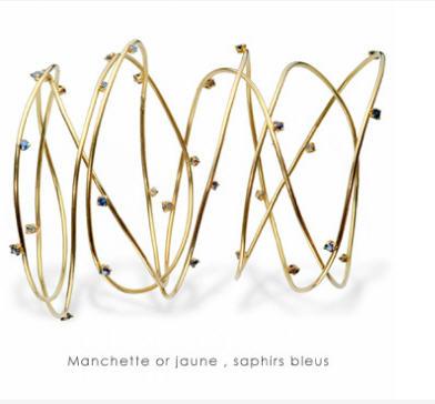 Acheter Bracelet manchette or jaune