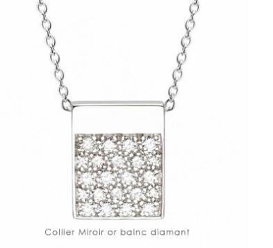 Acheter Collier Miroir or blanc diamants