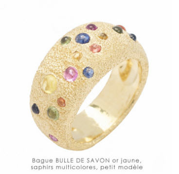 Acheter Bague Bulle de savon or jaune