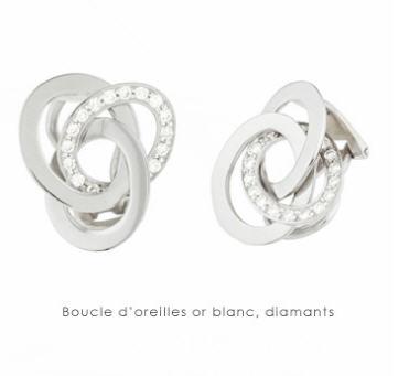 Acheter Boucles d'oreilles or blanc, diamants